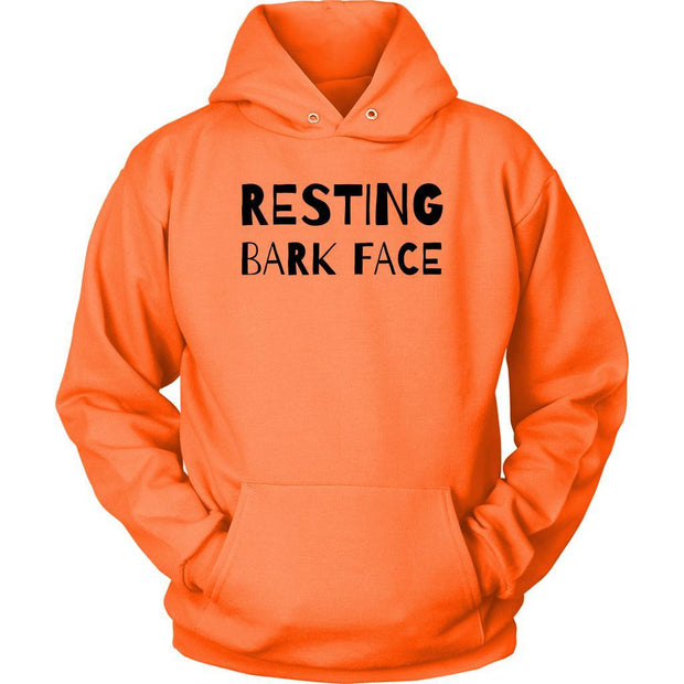 Resting Bark Face Unisex Hoodie-Neon Orange-Woofingtons