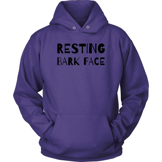 Resting Bark Face Unisex Hoodie-Purple-Woofingtons