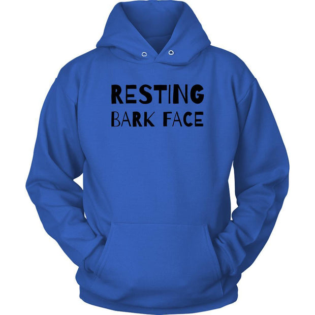 Resting Bark Face Unisex Hoodie-Royal Blue-Woofingtons