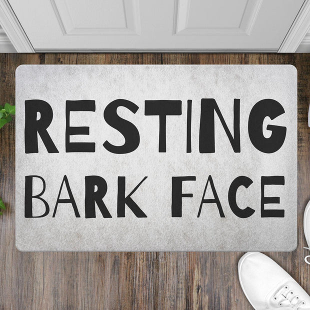 Resting Bark Face Welcome Mat-dog-lover-gift