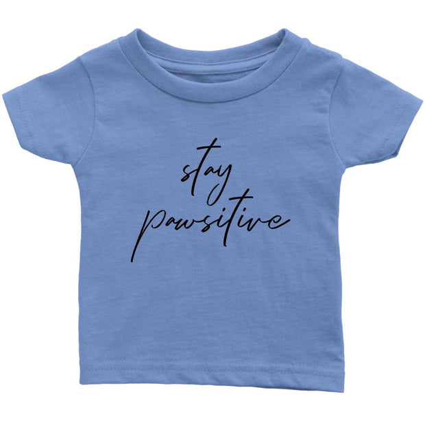 Stay Pawsitive Baby Tee-Baby Blue-Woofingtons