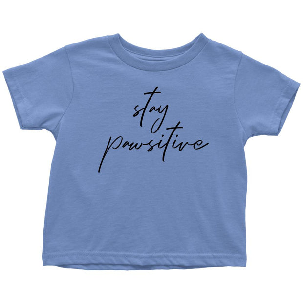 Stay Pawsitive Toddler Tee-Baby Blue-Woofingtons