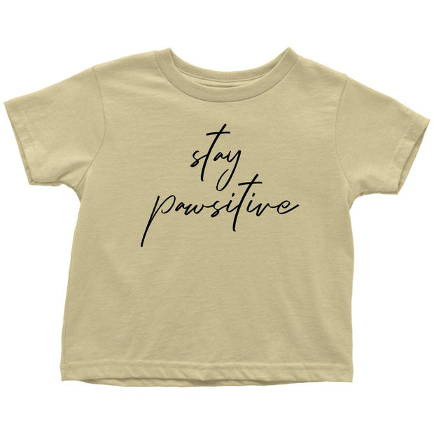 Stay Pawsitive Toddler Tee-Lemon-Woofingtons