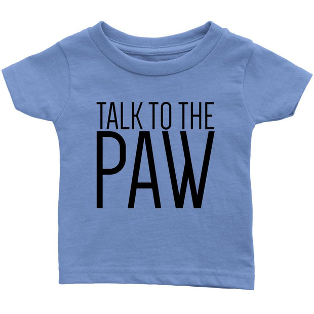 Talk To The Paw Baby Tee-Baby Blue-Woofingtons