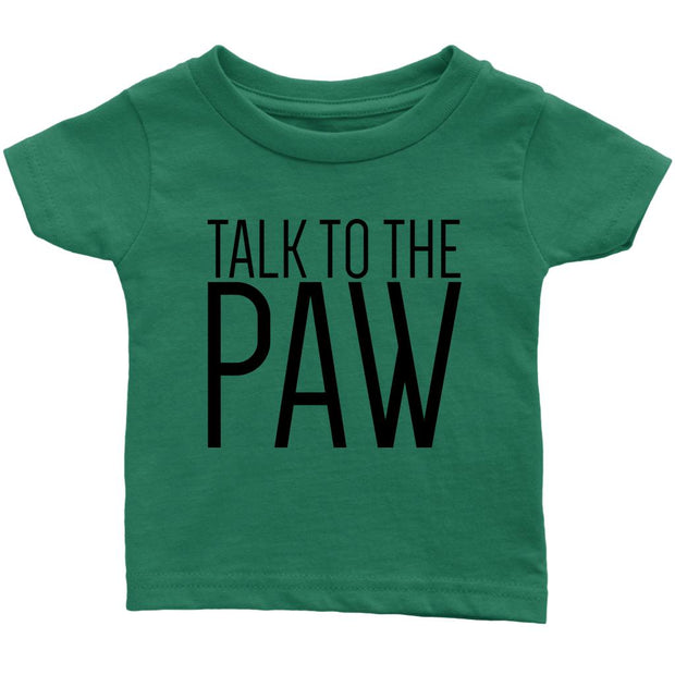 Talk To The Paw Baby Tee-Grass Green-Woofingtons