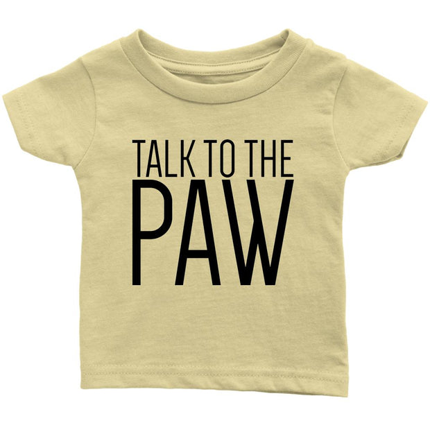 Talk To The Paw Baby Tee-Lemon-Woofingtons