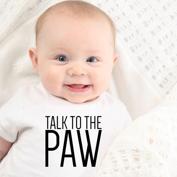 Talk To The Paw Baby Tee White Woofingtons