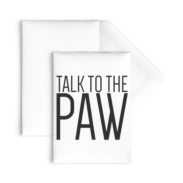 Talk To The Paw Flat Cards-10pc-Woofingtons