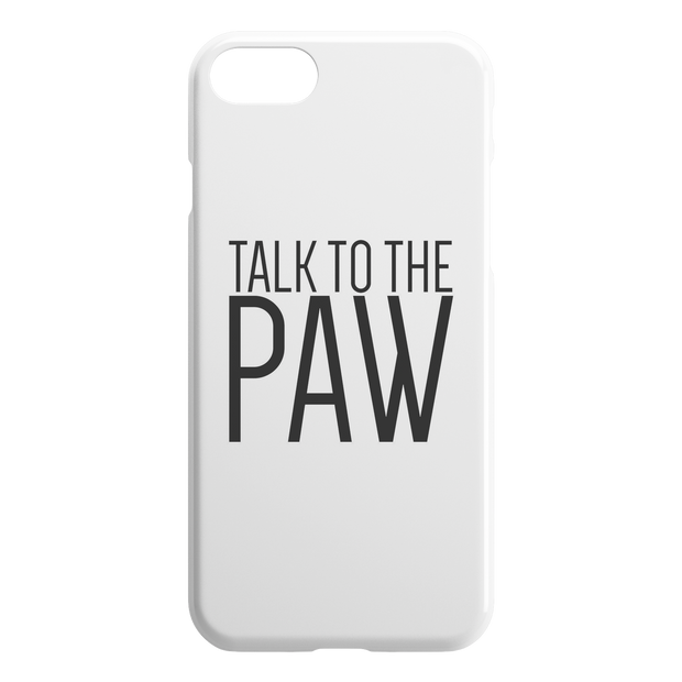 Talk To The Paw iPhone Case-iPhone 7 8-Woofingtons