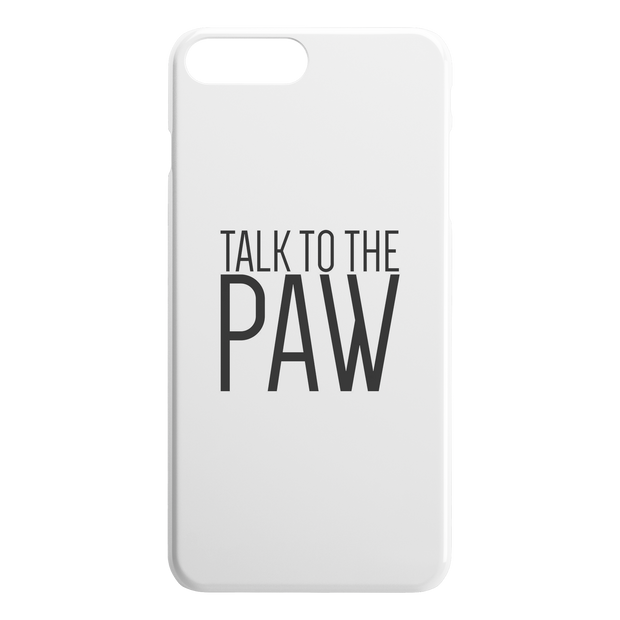 Talk To The Paw iPhone Case-iPhone 7 8 PLUS-Woofingtons