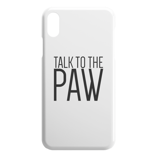 Talk To The Paw iPhone Case-iPhone X XS-Woofingtons