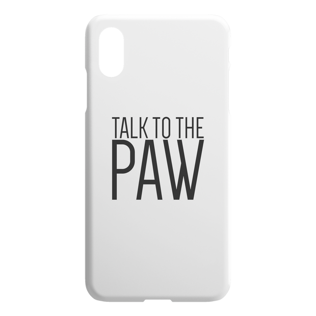 Talk To The Paw iPhone Case-iPhone X XS Max-Woofingtons