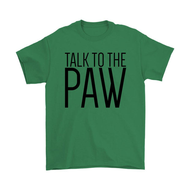 Talk To The Paw Mens Tee-Irish Green-Woofingtons