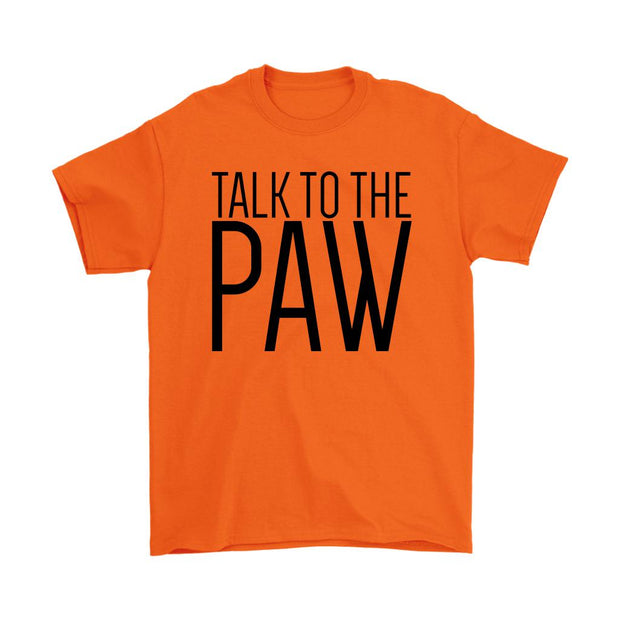 Talk To The Paw Mens Tee-Orange-Woofingtons
