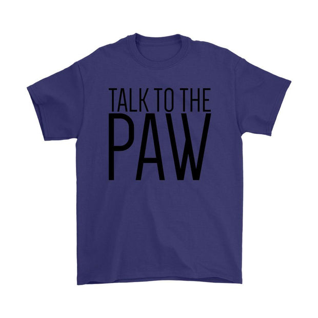 Talk To The Paw Mens Tee-Purple-Woofingtons
