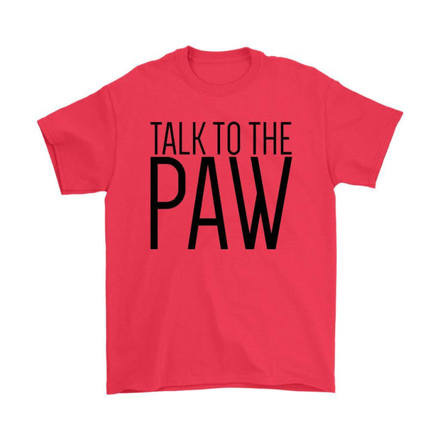 Talk To The Paw Mens Tee-Red-Woofingtons