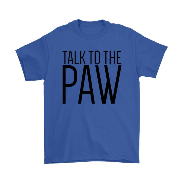 Talk To The Paw Mens Tee-Royal Blue-Woofingtons