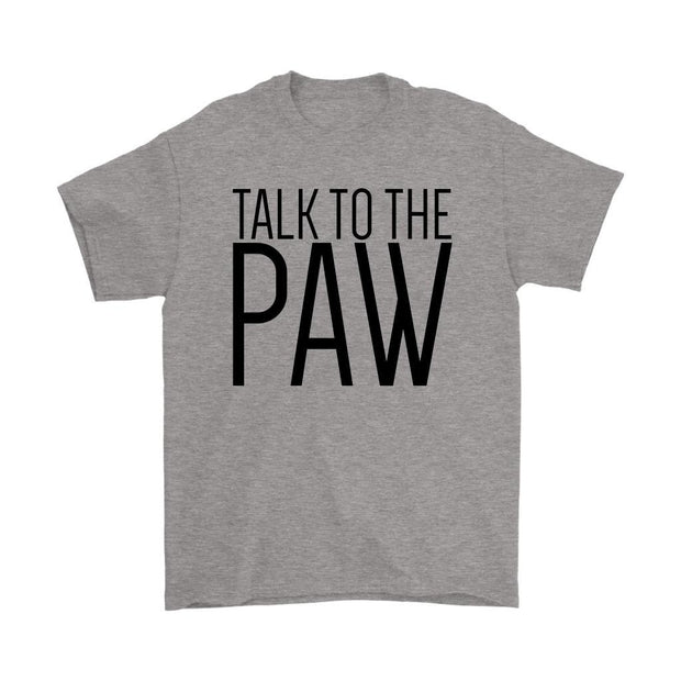 Talk To The Paw Mens Tee-Sport Grey-Woofingtons
