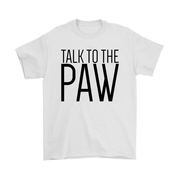 Talk To The Paw Mens Tee-White-Woofingtons