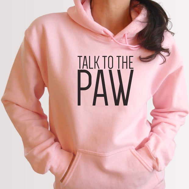 Talk To The Paw Unisex Hoodie Grey Woofingtons