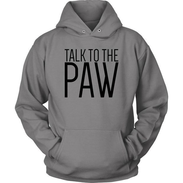 Talk To The Paw Unisex Hoodie-Grey-Woofingtons