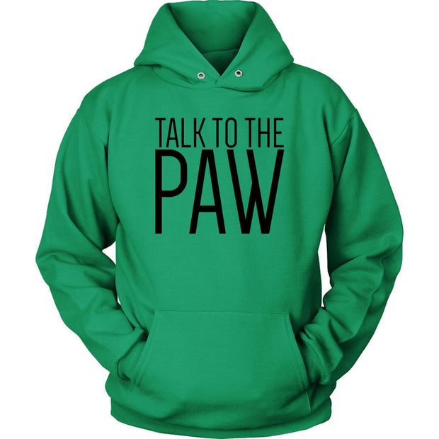 Talk To The Paw Unisex Hoodie-Kelly Green-Woofingtons