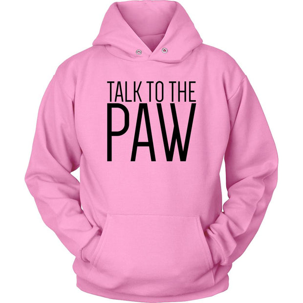 Talk To The Paw Unisex Hoodie-Pink-Woofingtons