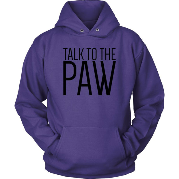 Talk To The Paw Unisex Hoodie-Purple-Woofingtons