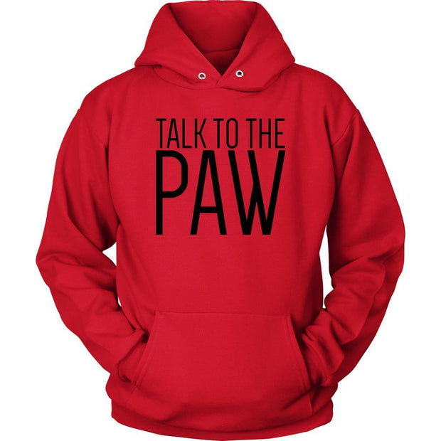 Talk To The Paw Unisex Hoodie-Red-Woofingtons