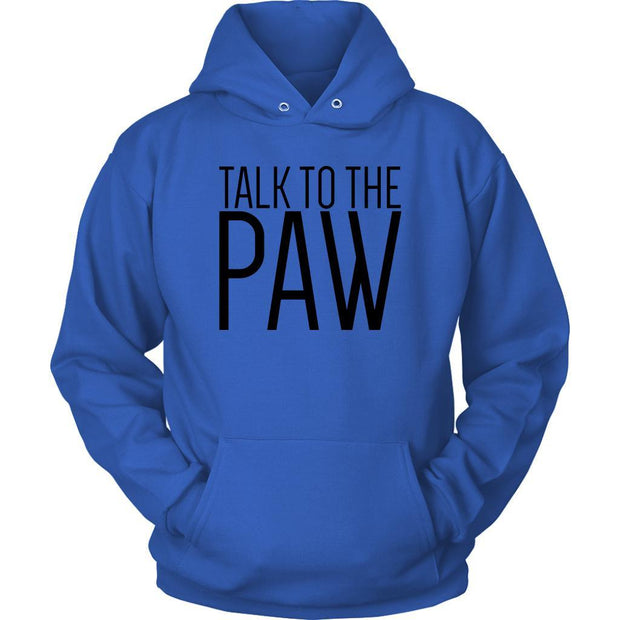 Talk To The Paw Unisex Hoodie-Royal Blue-Woofingtons