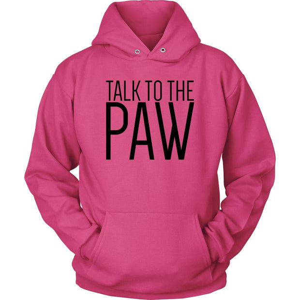 Talk To The Paw Unisex Hoodie-Sangria-Woofingtons