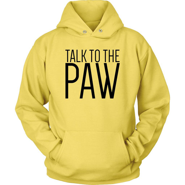 Talk To The Paw Unisex Hoodie-Yellow-Woofingtons