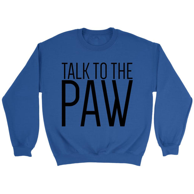 Talk To The Paw Unisex Sweatshirt-Royal-Woofingtons