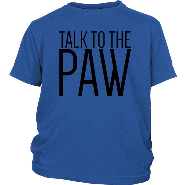 Talk To The Paw Kids Tee-Royal Blue-Woofingtons
