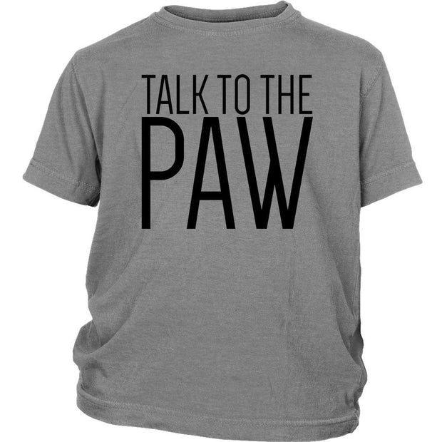 Talk To The Paw Kids Tee-Sport Grey-Woofingtons