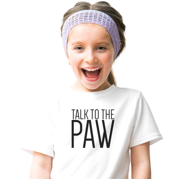Talk To The Paw Youth Tee White Woofingtons