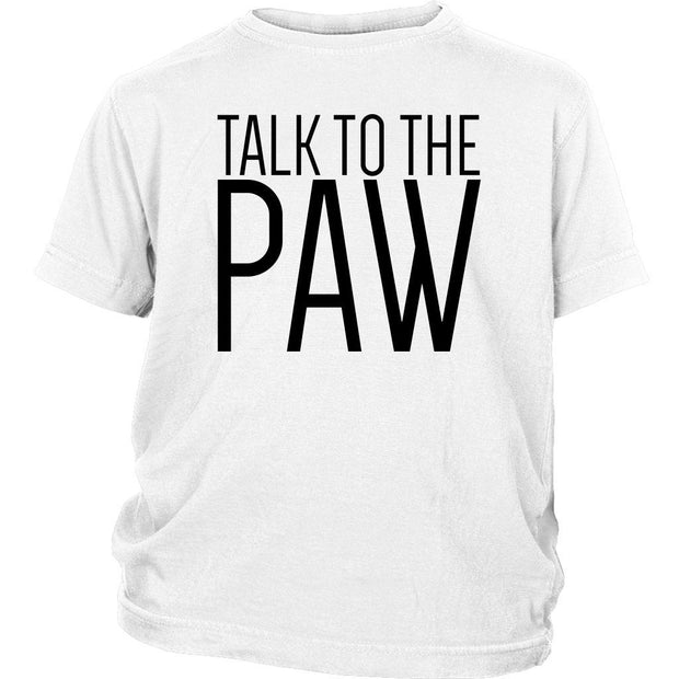 Talk To The Paw Kids Tee-White-Woofingtons