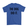 The Dog Did It Mens Tee-Royal Blue-Woofingtons