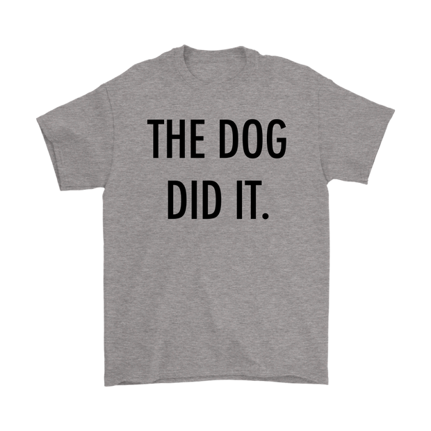 The Dog Did It Mens Tee-Sport Grey-Woofingtons