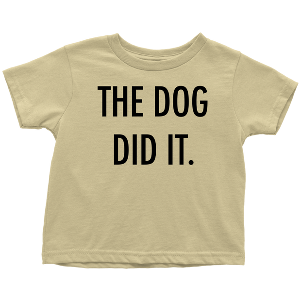 The Dog Did It Toddler Tee-Lemon-Woofingtons