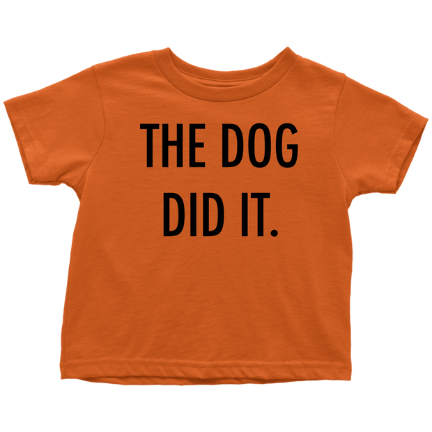 The Dog Did It Toddler Tee-Orange-Woofingtons