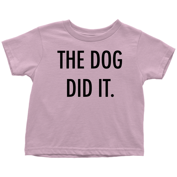 The Dog Did It Toddler Tee-Pink-Woofingtons