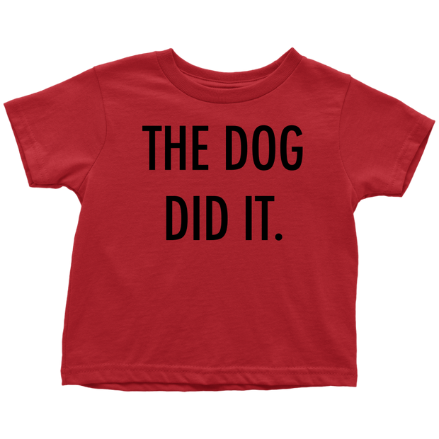 The Dog Did It Toddler Tee-Red-Woofingtons
