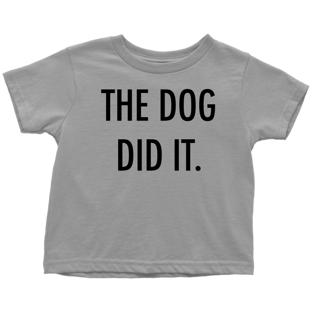 The Dog Did It Toddler Tee-Slate-Woofingtons