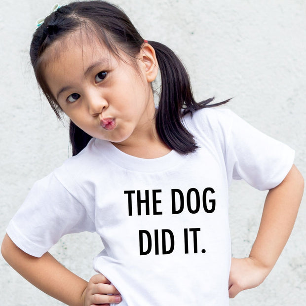 The Dog Did It Toddler Tee White Woofingtons
