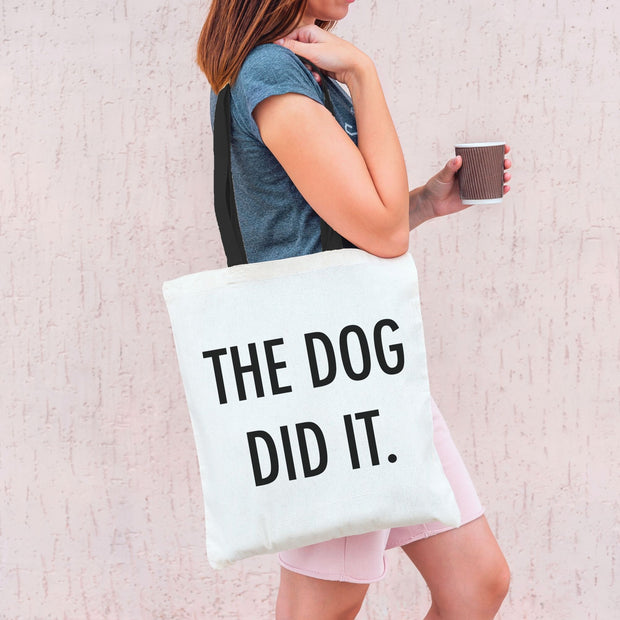 The Dog Did It Tote Bag-dog-lover-gift