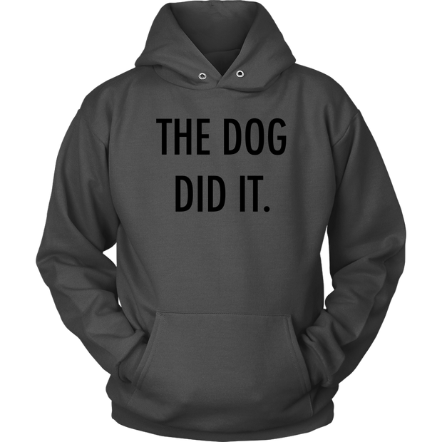 The Dog Did It Unisex Hoodie-Charcoal-Woofingtons