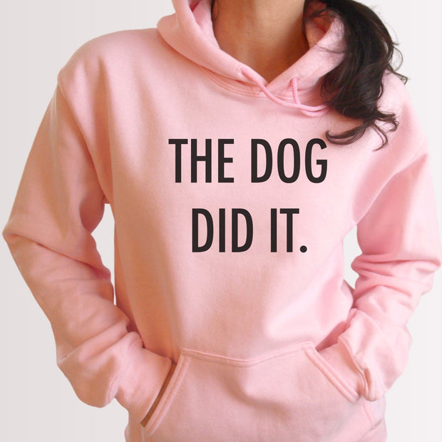 The Dog Did It Unisex Hoodie Grey Woofingtons