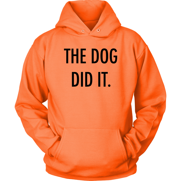 The Dog Did It Unisex Hoodie-Neon Orange-Woofingtons
