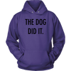 The Dog Did It Unisex Hoodie-Purple-Woofingtons
